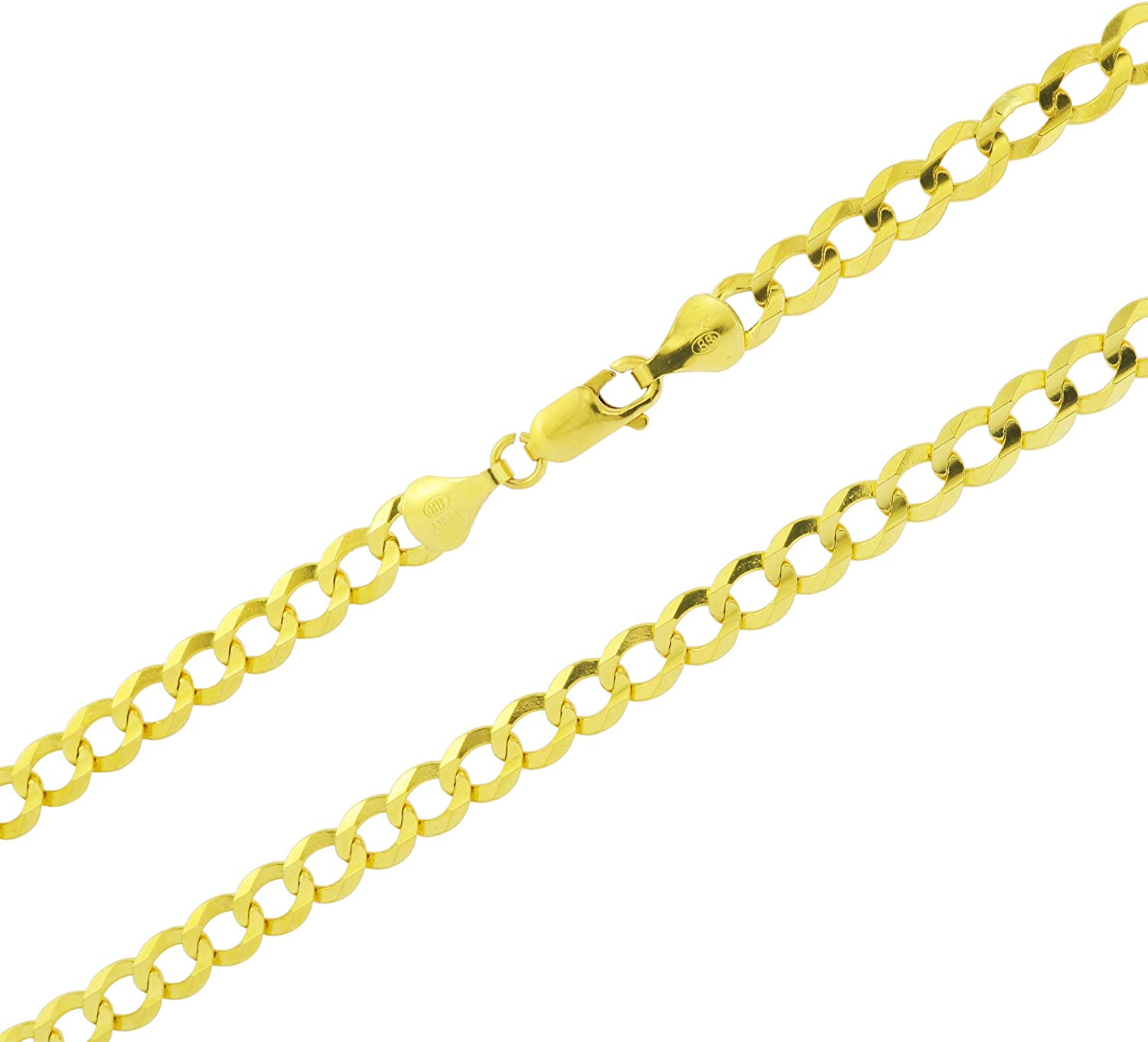 Nuragold 14k Yellow Gold 6mm Solid Selling and selling Curb Cuban Ranking TOP5 Pendant Link Chain