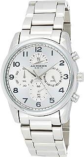 Akribos XXIV Silver Stainless Steel Men's Dress Watch – Fashion Quartz –AK1042SS