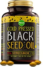 MAJU's Black Seed Oil Capsules – Cold Pressed, 3X% Thymoquinone, 100% Turkish..