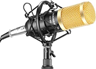 Neewer NW-800 Studio - Micrófono de Condensador Profesional y micrófono con absorción de sacudidas Tipo de Bola y Cable d...
