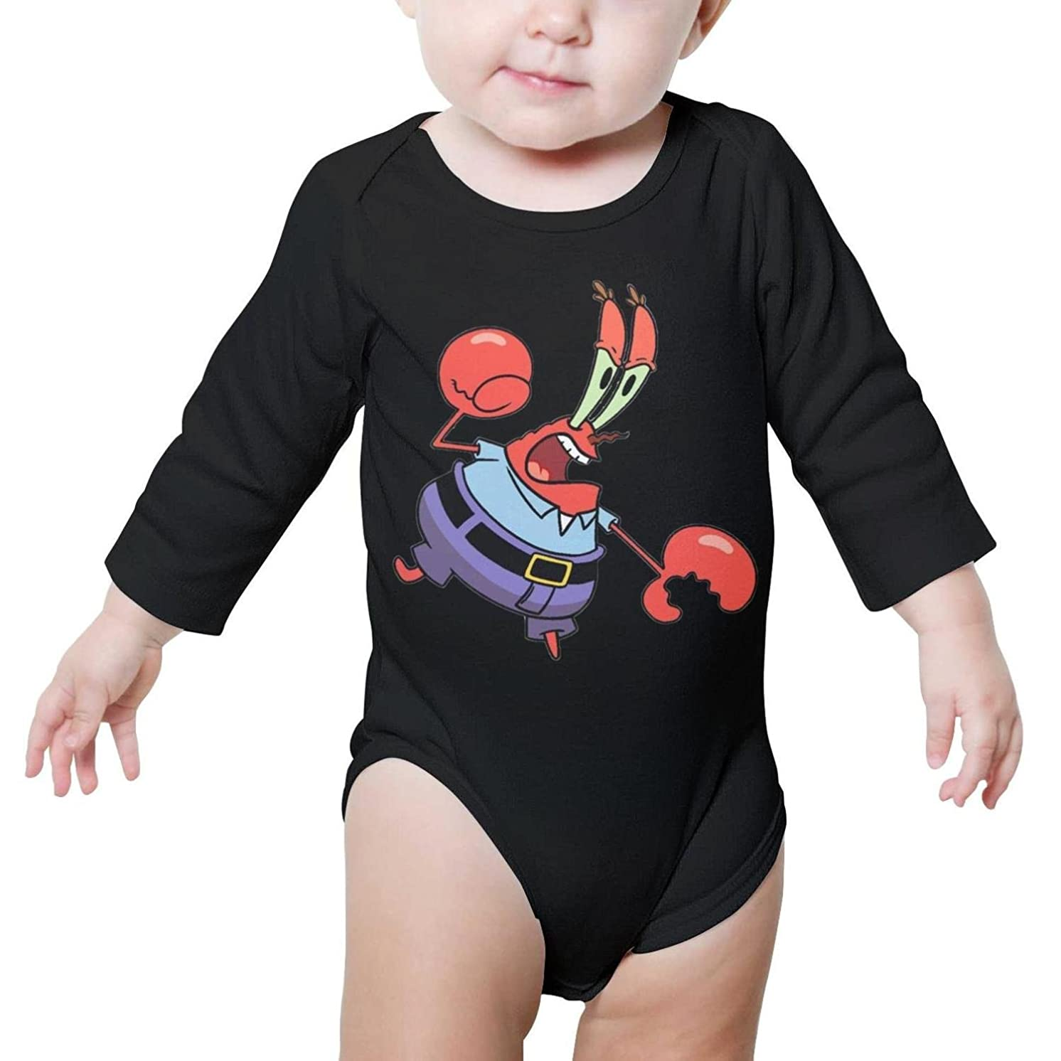 Crab Costume Crab Legs Baby Girl Black Romper Organic Cotton Long Sleeve Unisex
