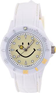[スマイリー]SMILEY 腕時計 ステッチシリコン ホワイト×クリーム WC-HBSIL-CR 【正規輸入品】