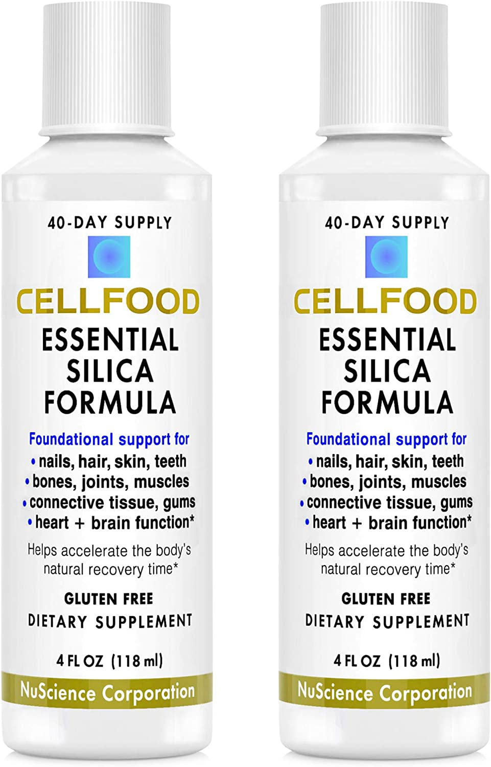 Cellfood Essential Silica favorite Anti-Aging Formula 4 Courier shipping free 2 - Pack fl oz