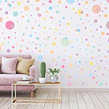 264 Pieces Polka Dots Wall Sticker Circle Wall Decal for Kids Bedroom Living Room, Classroom, Playroom Decor Removable Vin...