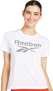 Reebok womens Workout Ready Supremium Slim Fit Big Logo Tee T-Shirt