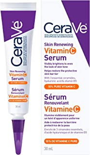 CeraVe 10% Pure Vitamin C Serum for Face With Hyaluronic Acid | Skin Brightening Anti Aging Face Serum for dark spots with...