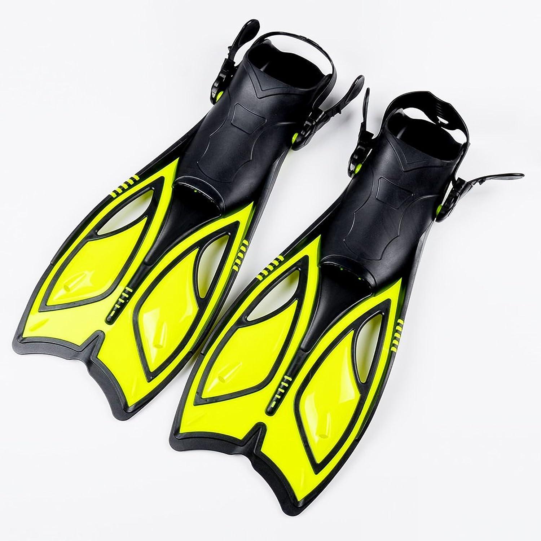 EDTara 1 Pairs Scuba Diving Fins Unisex Lightweight Open Heel Snorkel Swim Pool Training Flippers Yellow M