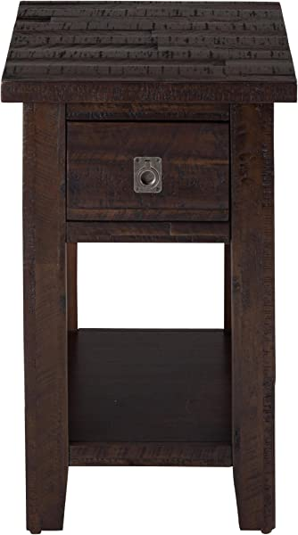 Jofran Kona Grove 1 Drawer End Table In Rustic Chocolate