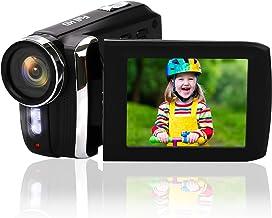 """دوربین فیلمبرداری مینی DV ، دوربین فیلمبرداری دیجیتال Heegomn 12MP 1080P / صفحه نمایش تلنگر LCD 2.8 """"TFT / دوربین فیلمبرداری هندی کم دوربین قابل چرخش 270 درجه برای کودکان / مبتدیان / سالمندان (بدون اسلات نوار) (سیاه)"""
