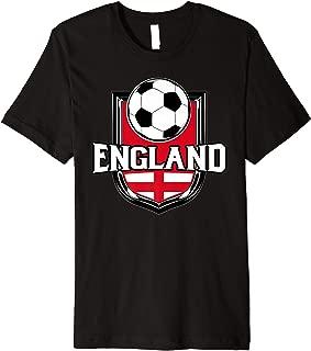 England Soccer Ball T-Shirt | English Flag Football Tee