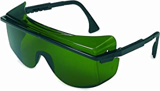 Honeywell S2508 Uvex Astro OTG 3001 Shade Rated Welding Lenses, Standard, Black with Green Lens