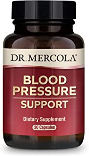 Dr. Mercola, Blood Pressure Support Dietary Supplement, 30 Servings (30 Capsules), 300 mg Grape Seed Extract, Non GMO, Soy...