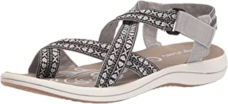 Easy Street Women's Sport Sandal, Grey, 6 Wide
