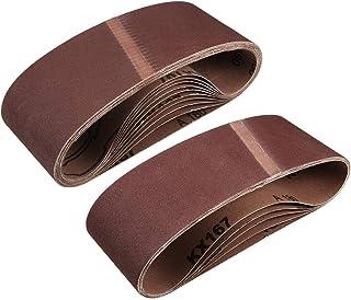 """3""""x 18"""" 180 kornslipbälte Aluminiumoxid sandpappersbälten för bärbar rems slipmaskin träfinish metall gips polering slipni..."""