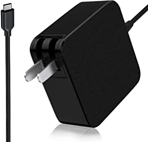 USB-C Charger Adapter for Dell XPS 11 12 13 Series Notebook Charger 9370 9360 9350 9365 9380, Dell Latitude 11 12 13 Series 9Q23 9370, Dell Venue 8 10 Pro Series 5855 5056 Type C Power Supply