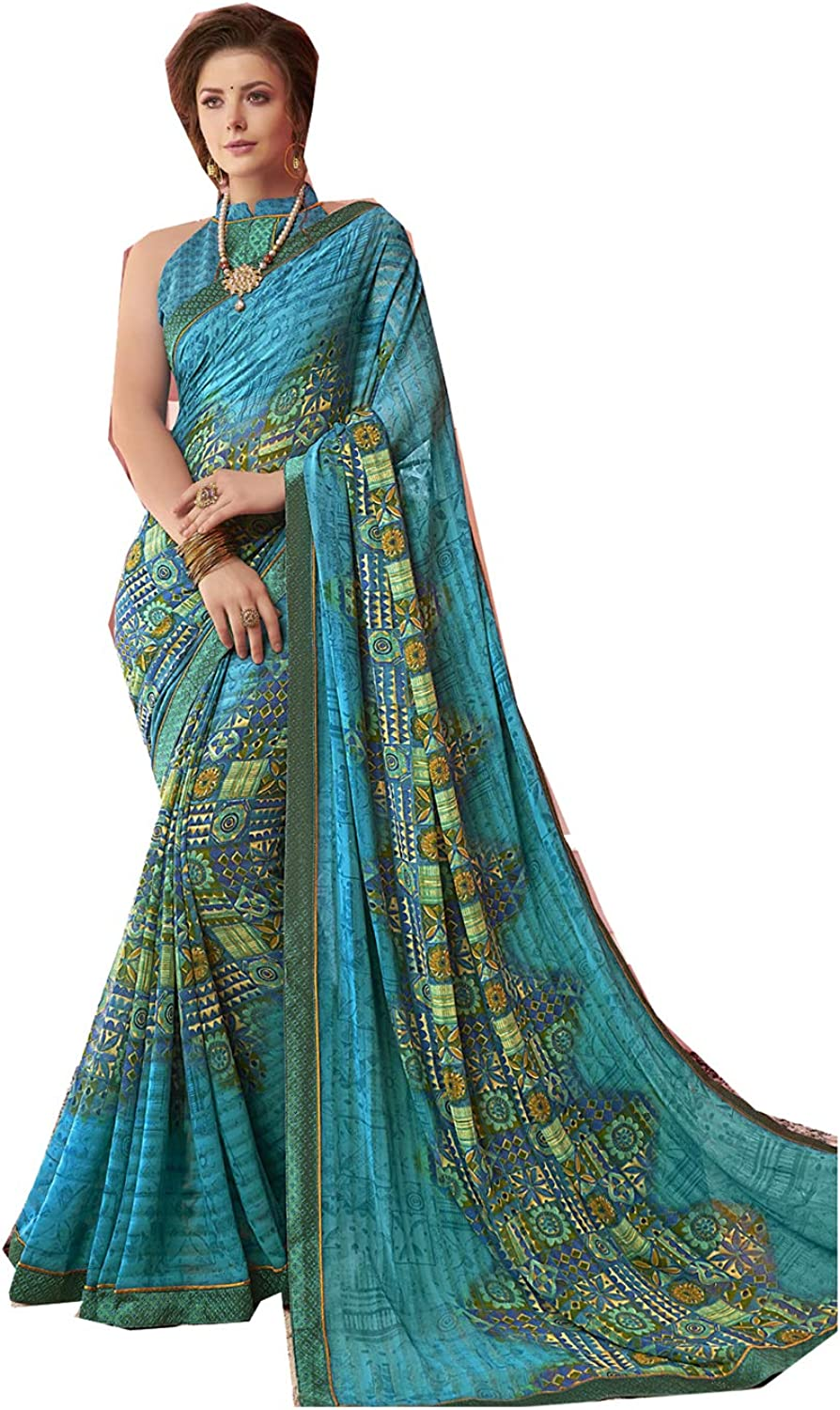 Fashions Trendz Indian Women Designer Party Wear Ethnic Traditional Saree.