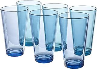 Bistro Premium Quality Plastic 20oz Water Tumbler | Set of 6 Multicolor