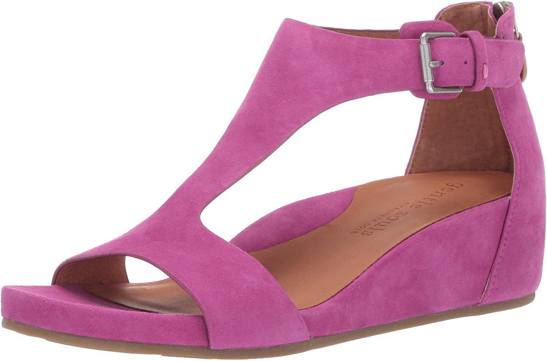 Själar av Kenneth Cole Gisele T -Strap -Strap -Strap Wedge Sandal Sandal  inget minimum