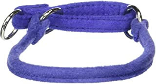 "Comfort Microfiber Round Martingale Collar for Dogs (W 1/4"" L 14""), Purple"