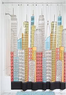 InterDesign 180 x 200 cm Metropolitan Shower Curtain, Multi-Colour