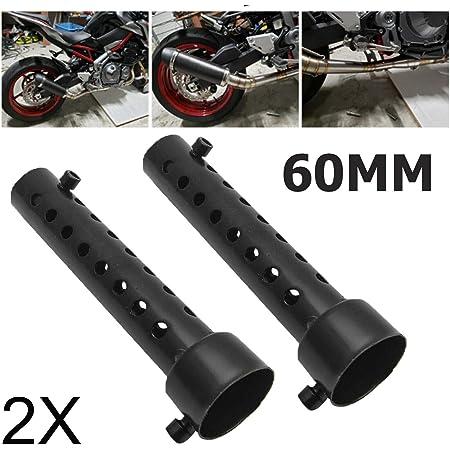 Fxco 60 Mm Edelstahl Universal Motorrad Auspuff Endschalldämpfer Db Killer Schalldämpfer Für Akrapovic Yoshimura Auto