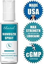 Ebanel 5% Lidocaine Topical Numbing Spray for Max Painkilling, 72ml Anesthetic Spray for Pain Relief, Help Reduce Pain During and After Session, Hemorrhoid, Postpartum, Numbing Cream Spray Version