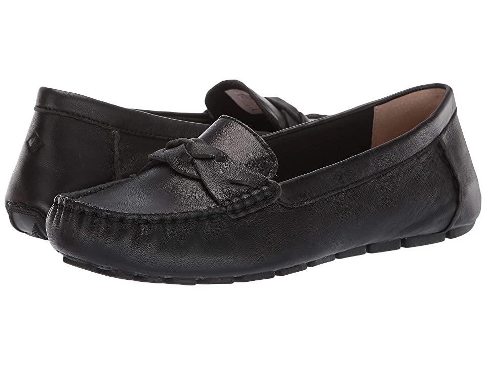Sperry Bridge Driver Leather (Black) Women