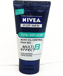Nivea For Men (Toner Formula) Total Anti-Acne Acne oil control Foam 8 in 1 (50g) x 3Pcs.