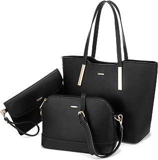LOVEVOOK Handtasche Damen Set Leder Taschen Shopper Groß Schultertasche Damen-Henkeltaschen Handbags for Women Tote Bag fü...