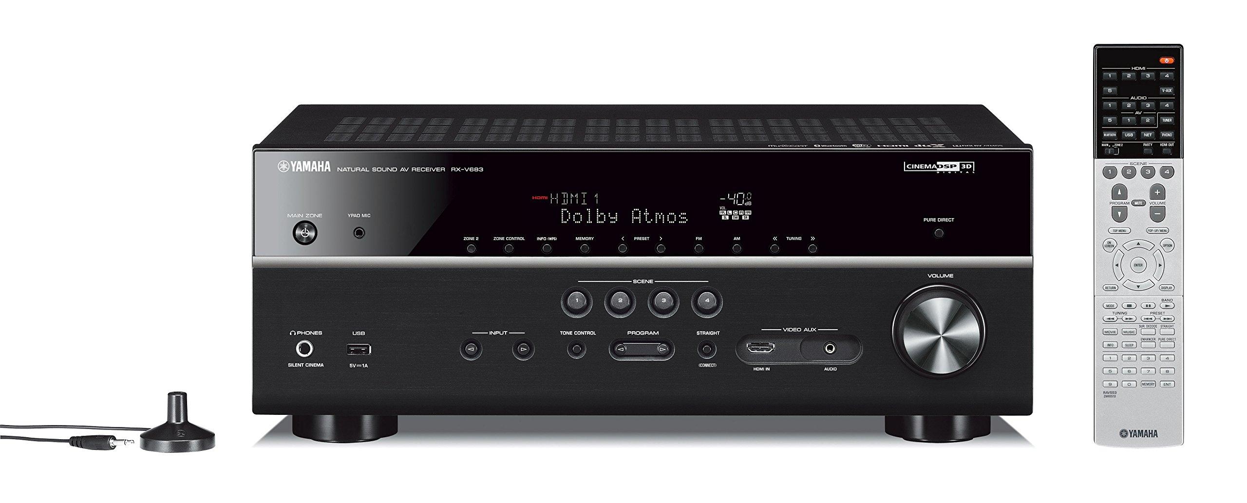 Yamaha RX V683BL 7 2 Channel MusicCast Bluetooth