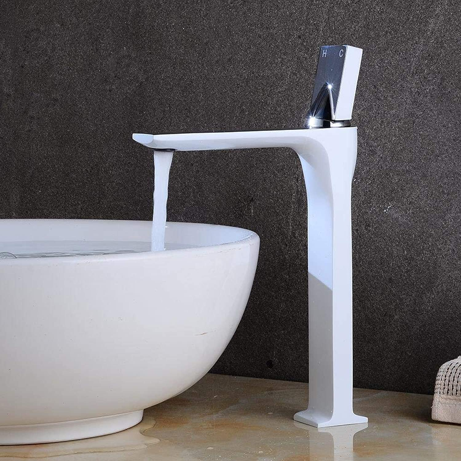 Tap Paint Hot and Cold Basin Faucet Bathroom Creative Wash Basin Faucet Above Counter Basin Faucet
