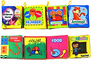 Coolplay Baby First Nontoxic Soft Cloth Book Set, Infants Crinkly Books Early Learning..