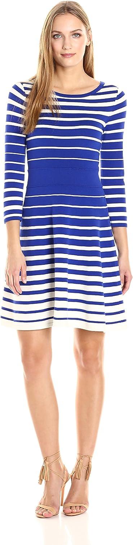 MILLY Womens Degrade Stripe Flare Dress Dress