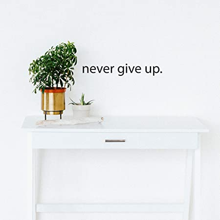 Never Ever Give Up Vinyl Decal Sticker Car Window Wall Bumper Home Life Style