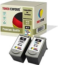 Pack de 2 XL TONER EXPERTE® Compatibles PG-40 CL-41 Cartuchos de Tinta para Canon Pixma iP1600 iP1800 iP1900 iP2200 iP2500 iP2600 MP140 MP150 MP160 MP170 MP180 MP190 MP210 MP450 MP460 (Negro, Color)