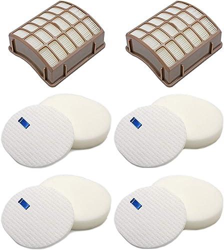 Colorfullife 4 Foam + 2 HEPA Filters for Shark Navigator Professional NV70, NV71, NV80, NVC80C, NV90, NV95, UV420 for...