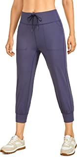 CRZ YOGA Women's Comfy Lounge Track Pants Workout Jogger Casual Pants with Pockets Drawstring