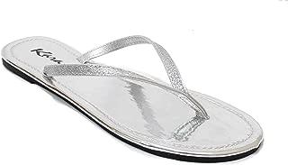 Women's Glitter Classic Casual Flat Thong Flip Flops Sandals Shoes LS012