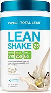 GNC Total Lean 25 Meal Replacement Shake for Weight Loss and Low-Carb Diets, French Vanilla, 16 Servings, Protein Powder for Weight Management Support