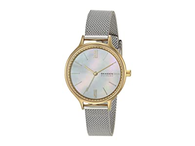 Skagen Anita Three-Hand Watch (SKW2866 Two-Tone Stainless Steel Mesh) Analog Watches