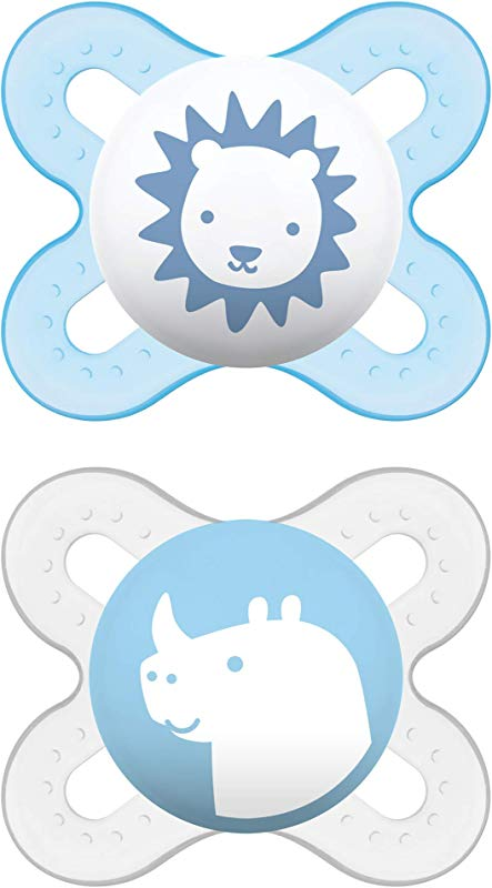 MAM Pacifiers Newborn Pacifier Best Pacifier For Breastfed Babies Start Design Collection Boy 2 Count