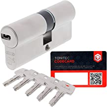 ABUS Deurcilinder sluitcilinder cilinder EC550 incl. 5 sleutels incl. ToniTec CodeCard grootte 45/50mm