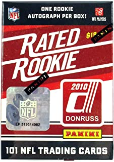 2010 Donruss Football Rated Rookies Factory Box Set (100 Cards + 1 Rookie Auto) - Football Cards
