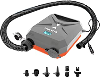 20PSI High Pressure SUP Air Pump, Intelligent Dual Stage Inflation Auto-Off and Deflation with 12V DC Car Connector, Two D...