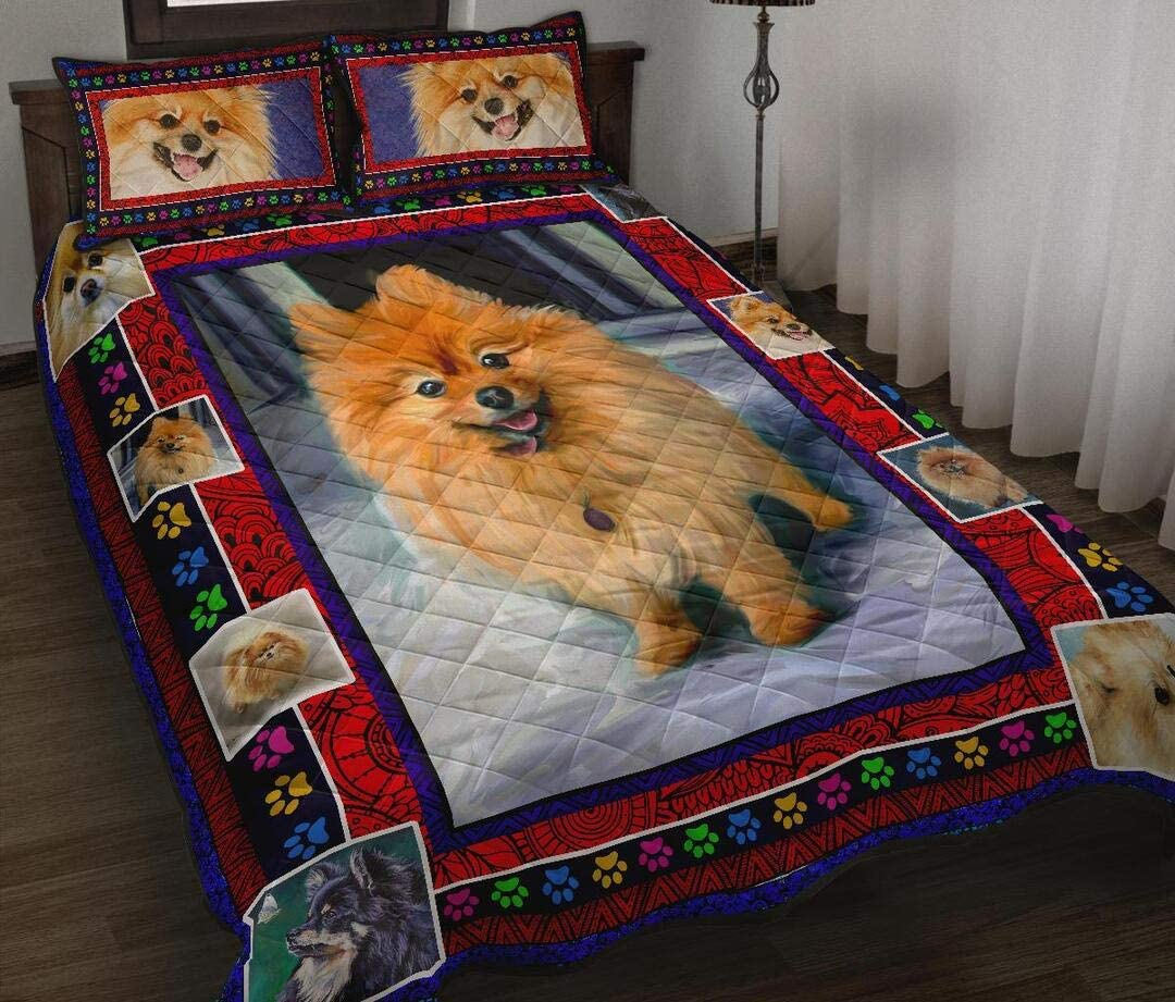 Personalized Pomeranian Quilt Max 42% OFF to My Mom So Wife Kids free shipping Husband Dad