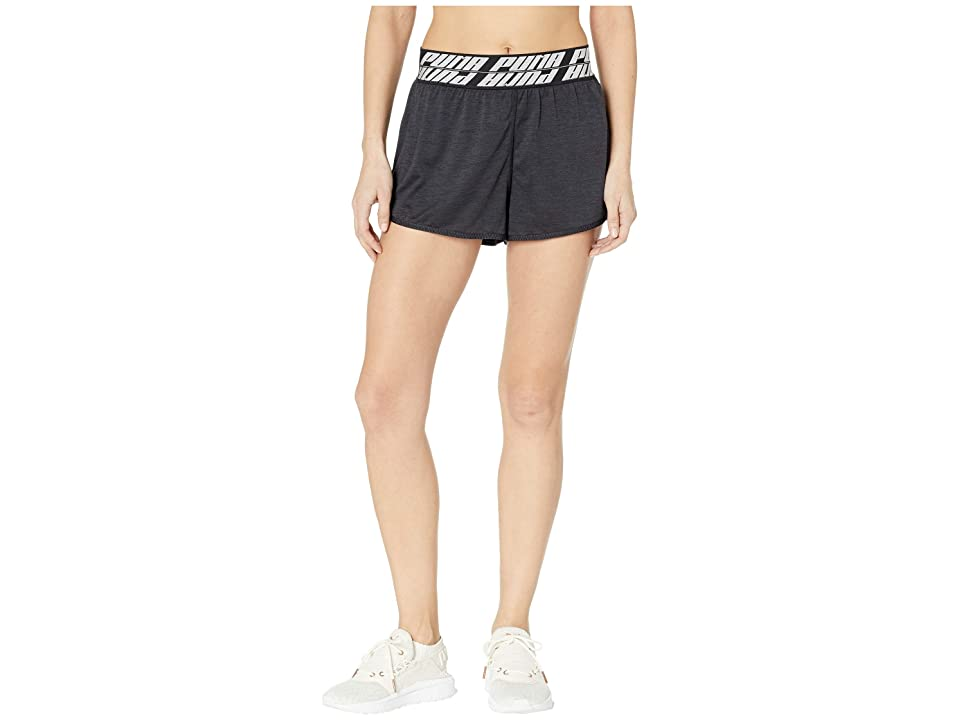PUMA Own It 3 Shorts (Puma Black Heather) Women's Clothing