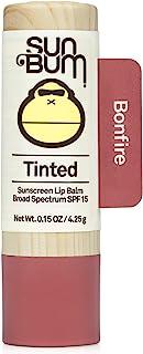 Sun Bum Tinted Lip Balm Bon Fire | SPF 15 | UVA / UVB محافظت از طیف گسترده