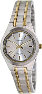 Casio Women's LTP1310SG-7AV Silver Stainless-Steel Quartz Watch with Silver Dial