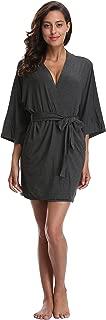 CostumeDeals Women's dept Modal Kimono Robe Short Bathrobe Knit Soft Wrap Sleepwear Loungewear