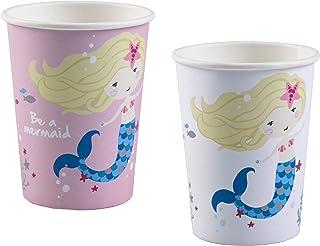 Amscan 9903032 Mermaid Assorted Paper Cups 250ml-8 Pcs, multicoloured, 250 ml